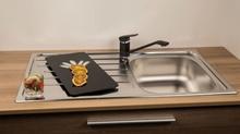 SinkSolution A LINE 860x500 1x rustfri stål køkkenvask