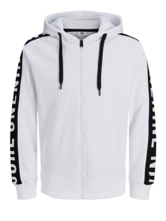 JACK & JONES Graphic Hoodie Men White