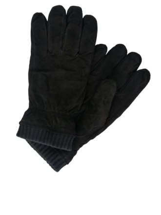 JACK & JONES Suede Gloves Men Black