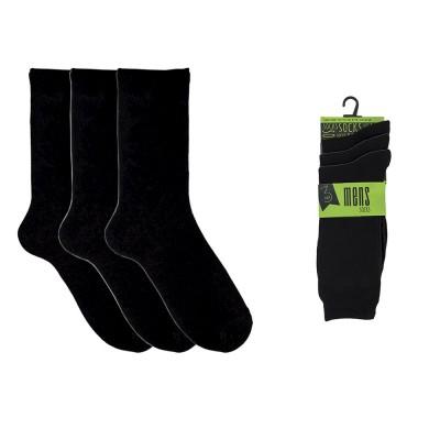 Socks 3-Pack Classic Mens Socks Black 41-46