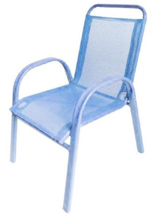 Barnestol i lys blå utførelse - kan stables
