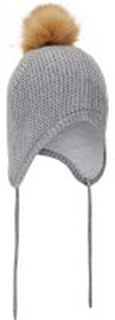 NAME IT Baby Knitted Wool Hat Man Grå