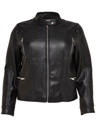 ONLY Curvy Biker Jacket Women Black