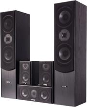 5.0 home cinema sound system, black