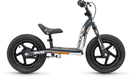 s'cool pedeX easy 12 Løbecykel Børn grå/sort 2019 Løbecykler
