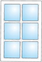 Dekorfönster Kombi med spröjs nr1 stående eller liggande