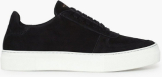 Selected Homme Slhcris Nubuck Trainer W Sneakers Svart