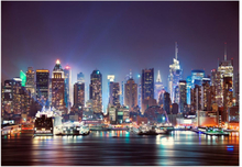 Scandinavian Artstore Fototapet - Night in New York City - 100x70 cm