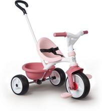 Trehjuling med Skjutstång, Rosa