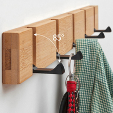 Wall Mounted Coat Rack Punch-free Floating Shelves Wood Wall Storage Shelves with Hooks for Bedroom Living Room Bathroom Office