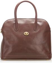 Burberry Leather Handbag, brown