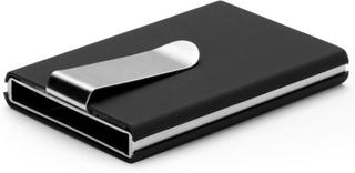 Korthållare RFID-blockerare med sedelklämma - Svart