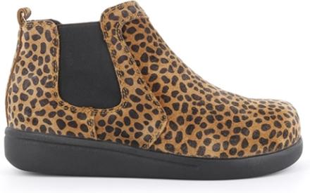 Green Comfort Elastic Boot Taupe Leopard