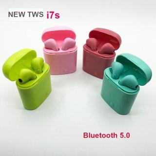 Nya Färgade I7s Trådlösa Hörlurar |bluetooth 5.0