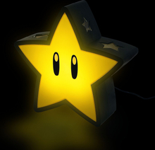 Super Mario - Super Star Lampe -Bordlampe - multicolor
