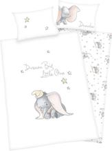 Dumbo - Dumbo Flanell Bettwäsche -Sengetøy - hvit, grå