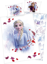 Frozen - 2 - Anna & Elsa -Sengetøy - hvit, grå