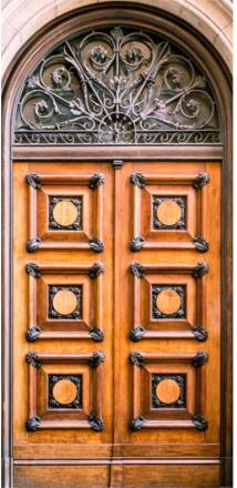 Scandinavian Artstore Dörrtapet - Antique Doors - 100x210 cm