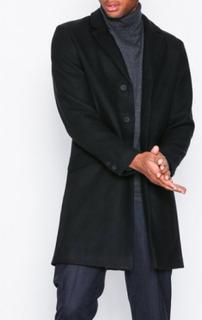 Only & Sons onsJULIAN Solid Wool Coat Jackor Svart