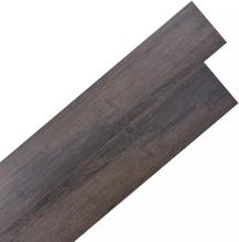 vidaXL Självhäftande PVC-golvplankor 5,02 m² 2 mm mörkbrun
