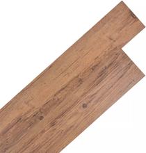vidaXL Självhäftande PVC-golvplankor 5,02 m² 2 mm valnötsbrun