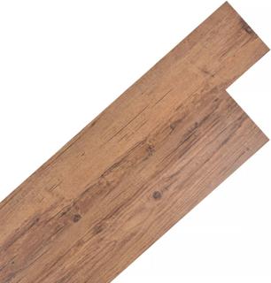 vidaXL Självhäftande PVC-golvplankor 5,02 m² valnötsbrun