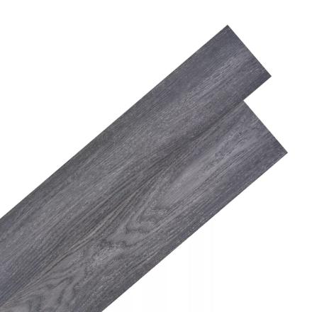 vidaXL selvklæbende PVC-gulvplanker 5,02 m² sort og hvid