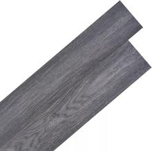 vidaXL Självhäftande PVC-golvplankor 5,02 m² 2 mm svart och vit