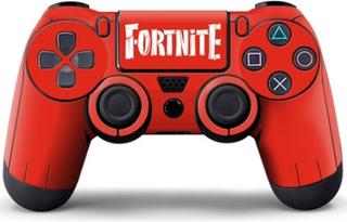 Skin till PS4 Handkontroll, Röd, Fortnite Tryck