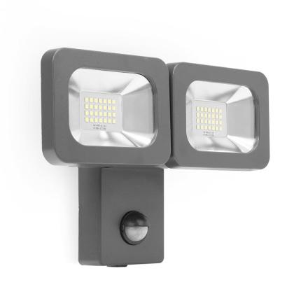 Smartwares LED dobbelt sikkerhedslys 2 x 12 W sort FLD2-A14B