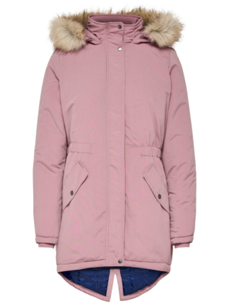 ONLY Detailed Parka Coat Women Pink