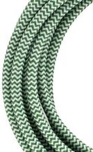 Bailey stoffen kabel 2-aderig groen/wit 3m