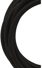 Bailey stoffen kabel 3-aderig zwart 3m