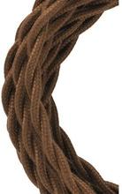 Bailey stoffen kabel gedraaid 2-aderig bruin 3m