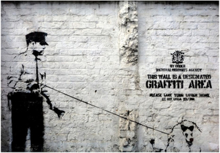Scandinavian Artstore Fototapet - Banksy - Graffiti Area - 350x245 cm