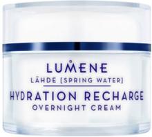 Lumene Lähde NORDIC HYDRA Hydration Recharge Overnight Cream Nattkrämer