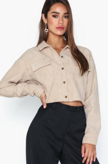 Missguided Cord Crop Shirt