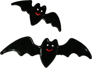 premier Sett med 2 Bat vinduet klistremerke Svart One Size