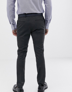 Topman skinny smart trousers in grey