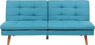 Bäddsoffa blå - soffa - sovfunktion - tygsoffa - RONNE