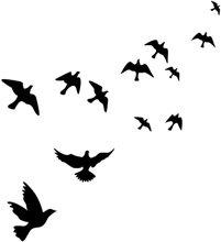 PPYY NEW -Waterproof Flying Birds Picture Wall Poster Background Wall Sticker