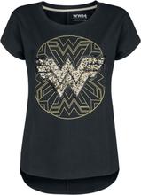 Wonder Woman - 1984 - Gold Logo -T-skjorte - svart