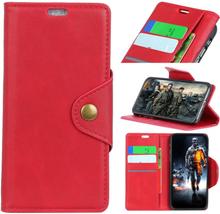 Huawei Honor 10 Lite beskyttelses deksel av syntetisk skinn - rød
