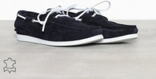 Selected Homme Slhsergio Boat Suede Shoe W Loafers & slippers Mörk Blå