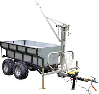 Elektroniskt tippbart ATV-släp med linjärt ställdon
