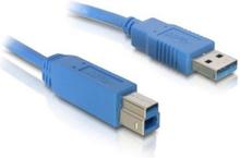 USB A til USB B-kabel DELOCK 82582 5 m Han-til-han stik Blå