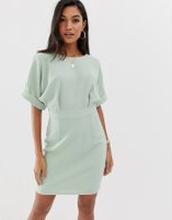 ASOS DESIGN wiggle miniklänning-Grön