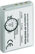 Conrad energy 250680 Kamerabatteri Ersättning originalbatteri NP-900 3.7 V 600 mAh