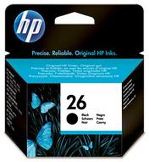 HP bläckpatron 26 svart (51626A)