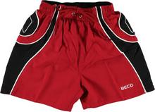 Beco rood / zwarte zwemshort in kort model met binnenslip